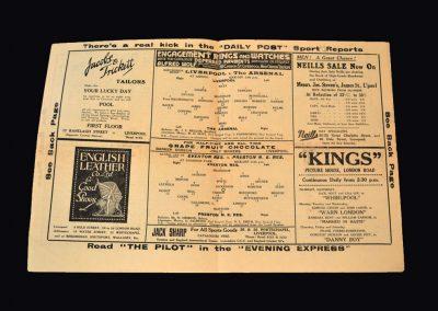 Arsenal v Liverpool 05.01.1935 | Everton Reserves v Preston Reserves 05.01.1935