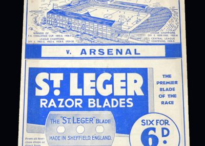 Arsenal v Sheff Wed 02.03.1935 - FA Cup 6th Round