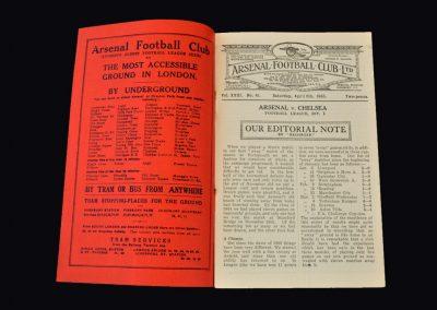 Arsenal v Chelsea 06.04.1935