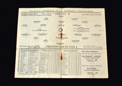 Arsenal v Preston 26.10.1935