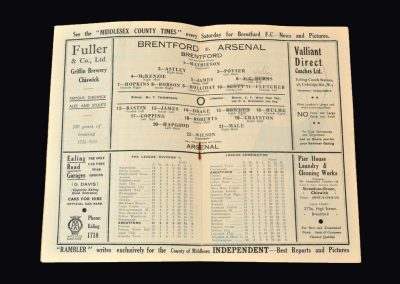 Arsenal v Brentford 02.11.1935