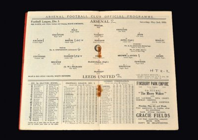 Arsenal v Leeds 02.05.1936