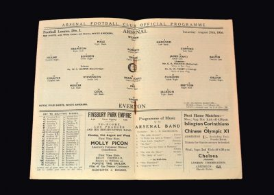 Arsenal v Everton 29.08.1936 (Dixie equals Bloomers record)