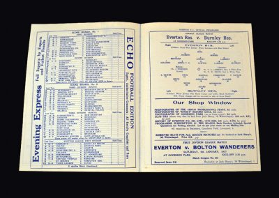 Everton reserves v Burnley reserves 02.01.1937 (Everton get their successor to Dixie)