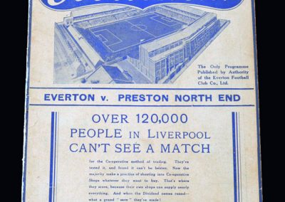 Everton v Preston 30.10.1937