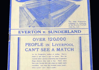 Everton v Sunderland 22.01.1938 - FA Cup 4th Round