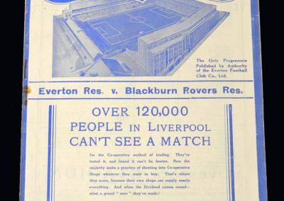 Everton Reserves v Blackburn Reserves 02.02.1938