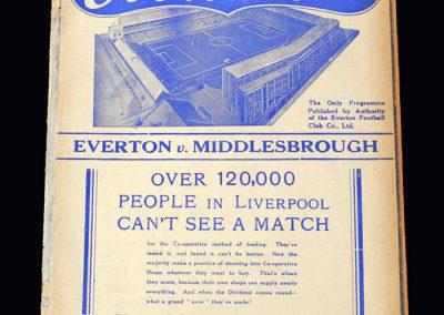 Everton v Middlesbrough 19.03.1938