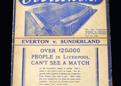 Everton v Sunderland 15.04.1938