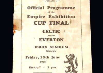 Everton v Celtic 10.06.1938 - Empire Cup