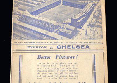 Everton v Chelsea 03.12.1938