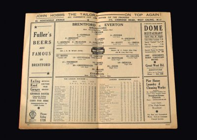 Everton v Brentford 31.12.1938