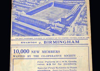 Everton v Birmingham 15.02.1939