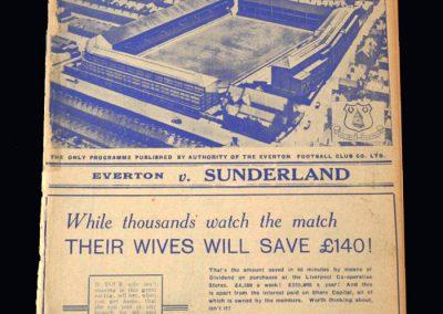 Everton v Sunderland 10.04.1939