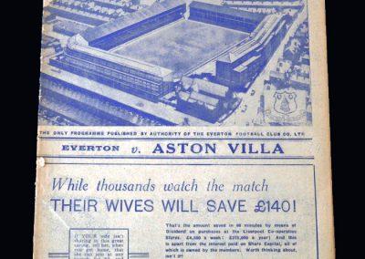 Everton v Aston Villa 29.04.1939