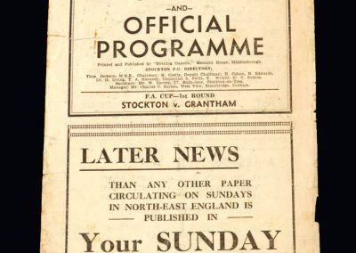 Stockton v Grantham 29.11.1947 - FA Cup 1st Round