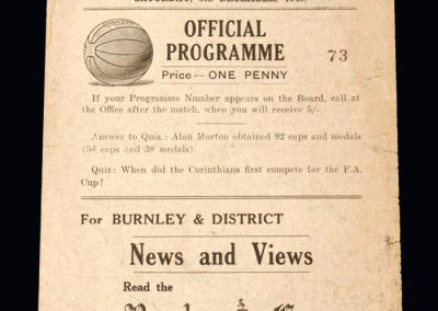 Man Utd v Burnley 08.12.1945