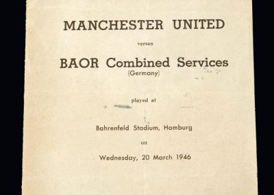 Man Utd v BOAR Combined Services 20.03.1946