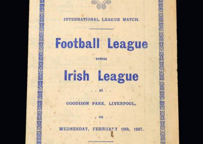 Football League v Northern Irish League 19.02.1947