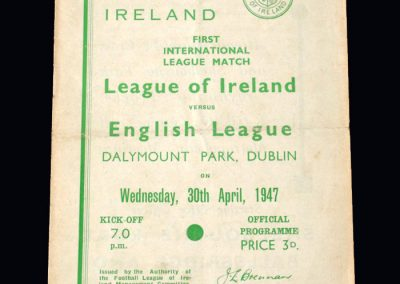 Irish League v English League 30.04.1947