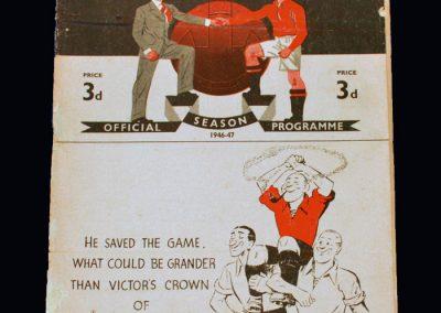 Man Utd v Grimsby Town 31.08.1946