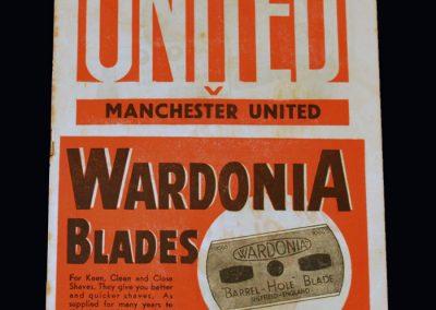 Man Utd v Sheff Utd 12.10.1946
