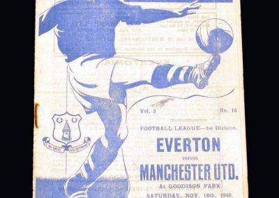 Man Utd v Everton 16.11.1946