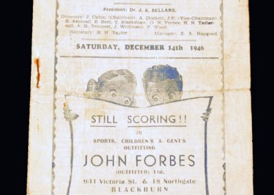 Man Utd v Blackburn Rovers 14.12.1946