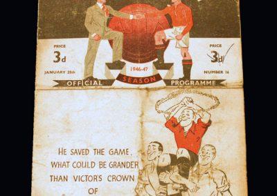 Man Utd v Notts Forest 25.01.1947