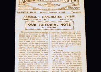 Man Utd v Arsenal 01.02.1947