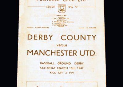 Man Utd v Derby 15.03.1947