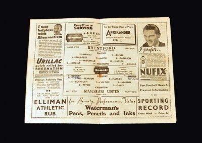 Man Utd v Brentford 12.04.1947