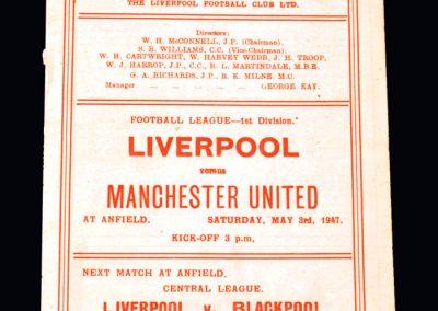 Man Utd v Liverpool 03.05.1947
