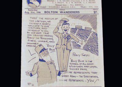 Chelsea v Bolton 31.08.1946