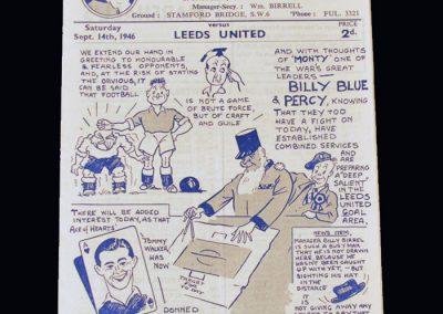 Chelsea v Leeds 14.09.1946