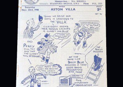 Chelsea v Aston Villa 23.11.1946