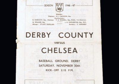 Chelsea v Derby 30.11.1946