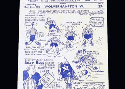 Chelsea v Wolves 21.12.1946