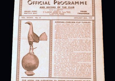 Chelsea v Arsenal 20.01.1947 - FA Cup 3rd Round 2nd Replay