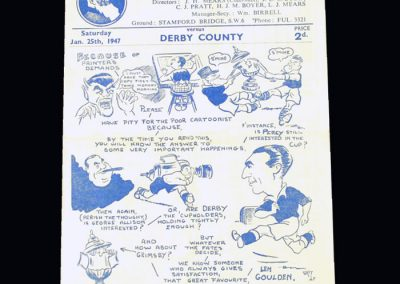 Chelsea v Derby 25.01.1947 - FA Cup 4th Round