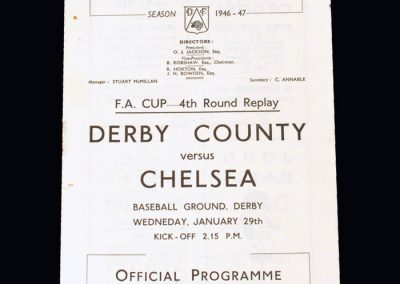 Chelsea v Derby 29.01.1947 - FA Cup 4th Round Replay