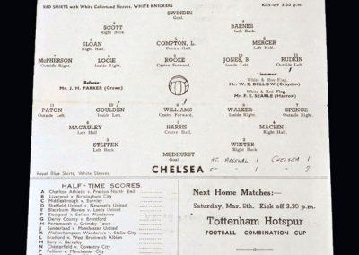 Chelsea v Arsenal 01.03.1947