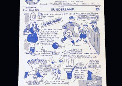 Chelsea v Sunderland 22.03.1947