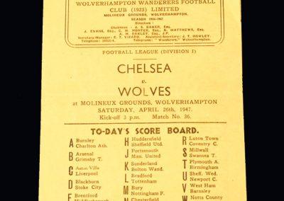 Chelsea v Wolves 26.04.1947