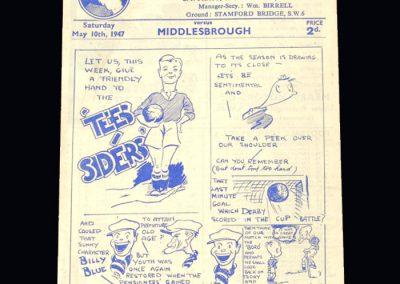 Chelsea v Middlesbrough 10.05.1947