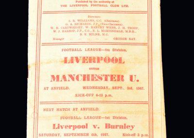 Man Utd v Liverpool 03.09.1947