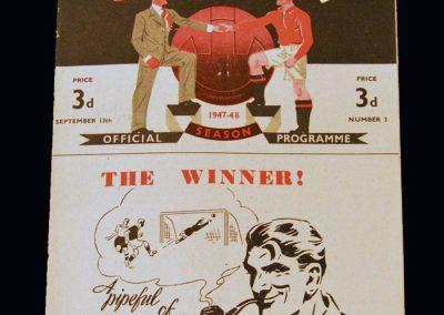 Man Utd v Sheff Utd 13.09.1947