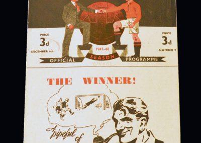 Man Utd v Blackpool 06.12.1947