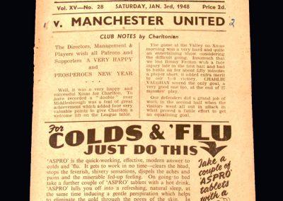Man Utd v Charlton 03.01.1948