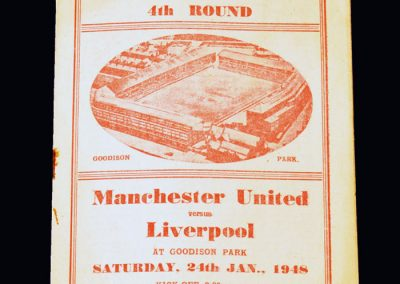 Man Utd v Liverpool 24.01.1948 - FA Cup 4th Round